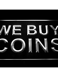 We Buy Coins Display Shop Neon Light Sign