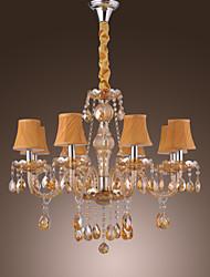 MAX25 Lustre ,  Traditionnel/Classique / Rustique / Vintage / Lanterne / Globe Plaqué Fonctionnalité for Cristal VerreSalle de séjour /