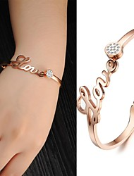 Mooie dames mode-sieraden Set Auger Zirkoon Gold Titanium Gold Bracelet