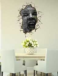 3D The Face Wall Stickers Wall Decals