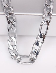 Unisex 6MM Silver Chain Necklace NO.115 Jewelry Christmas Gifts