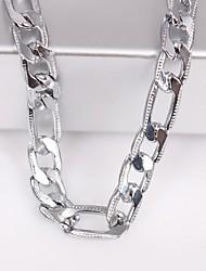 unisex 6mm stříbrný řetěz náhrdelník šperky no.115