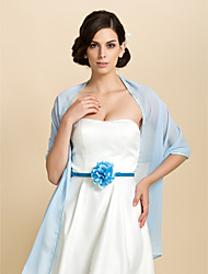 Party/Evening / Casual Chiffon Shawls Sleeveless Wedding  Wraps