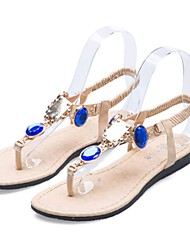 Sunfarey Women's Leisure All Match Candy Color Gem Flip Flops Sandals