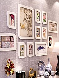 Weiß Photo Frame Collection, Mixed Größe Photo Frame Collection Set von 12