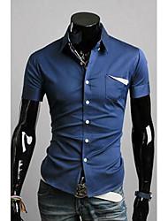DDMEN Herren Korean Slim Fit Kurzarmhemd