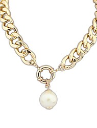 Women's European StyleThick Chain Pearl Pendant Chain Necklace(1 pc)