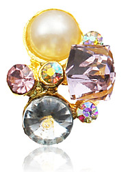10PCS Pérola Colorido enchido diamante Decorações Nail Art