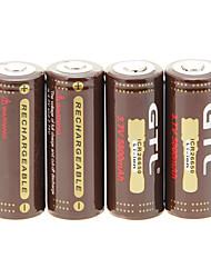 GTL ICR 26650 5800mAh da bateria (4 peças) com proteção de sobrecarga