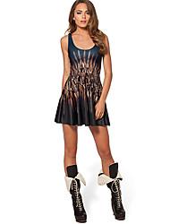 Women's Dresses , Polyester/Spandex Beauty