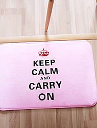 "Bath Mat Modern Memory Foam Keep Calm W16"" x L24""- 4 Colours Available"