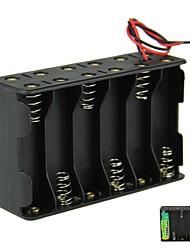 DIY 18V 12-Slot 12 x AA Battery Double Deck Back to Back supporto della cassa della scatola con cavi