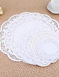 Papel 9 Tipos Coffee Cup Mat / bolo Papel Pad / Circular Cor do Papel conjunto de 36 peças