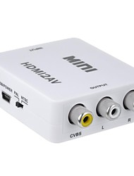 Playvision HDV-M610 HDMI to AV Video Audio Converter - White