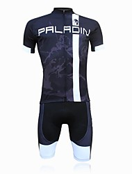 ILPALADINO Cycling Jersey with Shorts Men's Short Sleeve Bike Padded Shorts/Chamois Jersey Shorts Clothing SuitsQuick Dry Ultraviolet