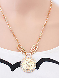 Pgirl Star Style Human Head Round Necklace