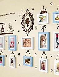 Photo Frame Collection Set de 13 con etiqueta de la pared 32