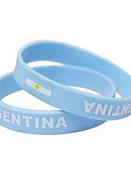 Аргентина Флаг Шаблон ЧМ-2014 Силиконовая лучезапястного сустава