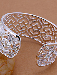 Minze 925 Silber Ausschnitt Musteröffnungsarmband