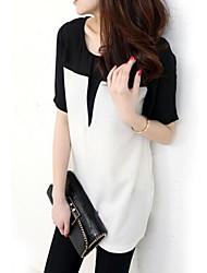 Women's Style Splicing Color Chiffon Blouse