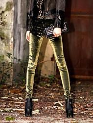 De la Mujer Moda Velvet fina delgada elástico Lápiz Leggings Pantalones