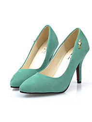 Moka Women's All-Match Solid Color High Heel Shoes P990 Green