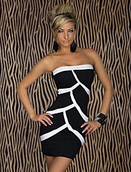 Fellie Женская бретелек Контрастность Цвет Bodycon платье