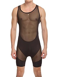 Men's Sexy Jumpsuits Protruding Shows The Body,Men's Underwear  Men's Tights To Get Fit Cloth