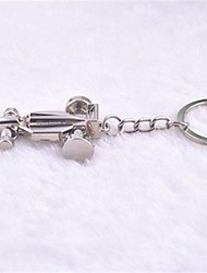 Beautiful Guitar Love Cool Kart Stainless Steel  Keychain Exquisite Gift