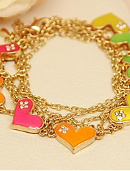 Fashion  Jewelry  Long  Candy  Color Gold  Plated Love Set Auger  Sweater Necklace for Women