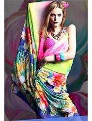 Women's Cover-Ups , Floral Chiffon Multi-color