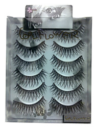 6 pairscoolflower false eyelashes 052#