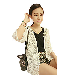 Women's Beaded Lace Tops & Blouses , Cotton Knitwear Sexy Beach Lace Long Sleeve RIVA