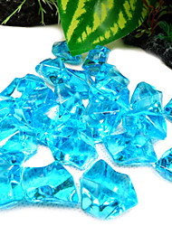 Plastic Simulate Crystal Rhinestone Decoration Ornament for Aquarium (Assorted Colors)