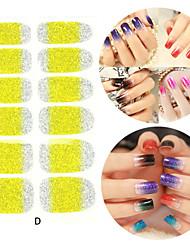 28pcs Glitter Steigung Rampe Nagelkunstaufkleber d Serie