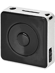Mini Square forma al jugador MP3 con TF (Negro + Plata)