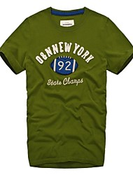 Col rond Homme vert de New York broderie 92 Football Sports T-Shirts