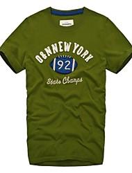 Мужская шею Зеленый Нью-Йорк Вышивка 92 Футбол Спортивные футболки