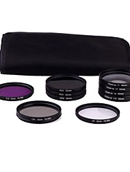 52mm 10pcs UV FLD CPL ND2/4/8 FILTRE ensemble pour Nikon D3100 D5000 D5100 Canon 450D 500D DSLR