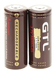 GTL ICR 5800mAh 26650 батареи (2шт) с Перегрузка защиты + 2 шт / лота жесткого пластика Батарея Box