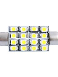 42mm 4W 200LM 6000K 16x3528 SMD White LED for Car Reading/License Plate/Door Lamp (DC12V, 1Pcs)