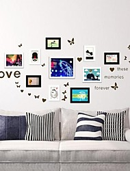 Wall Frame Collection Set of 10 with Wall Sticker