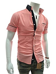 Men's Tops & Blouses , Cotton/Cotton Blend/Polyester Casual Aowofs