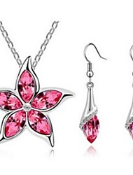 Jewelry-Necklaces / Earrings(Crystal)Wedding / Party / Daily Wedding Gifts