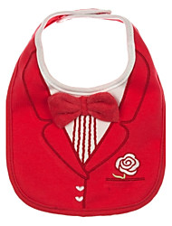 Children's Baby Infants Kids Cute Red Suit Tie bowknot Design Soft Cotton 3 Layers Waterproof Bibs Towel