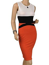 The One & Only Women's Bodycon Sexy Contrast Color Sexy DressN6186335