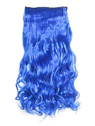 Blue Clip in Hari Extensions Long Wavy Hairpieces