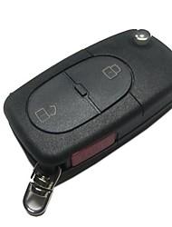 2-Button Flip Remote Key Case for Audi