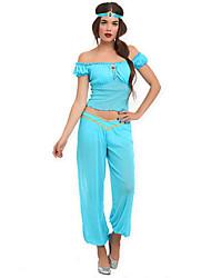 Disfraces de Cosplay Ropa de Fiesta Princesas Cuento de Hadas Festival/Celebración Disfraces de Halloween Azul Un ColorTop Pantalones