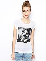 Col rond des femmes de Kitty T-shirt imprimé